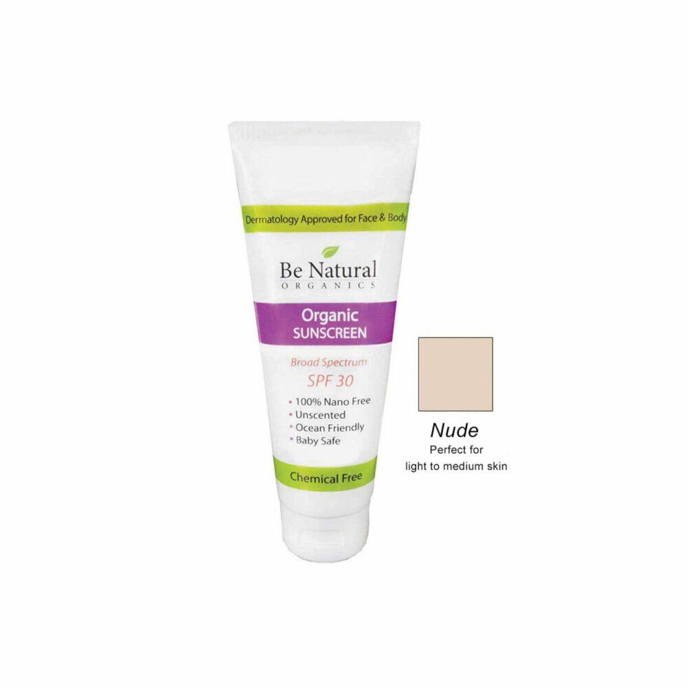 Organic Sunscreen – Nude Tint – 4 oz