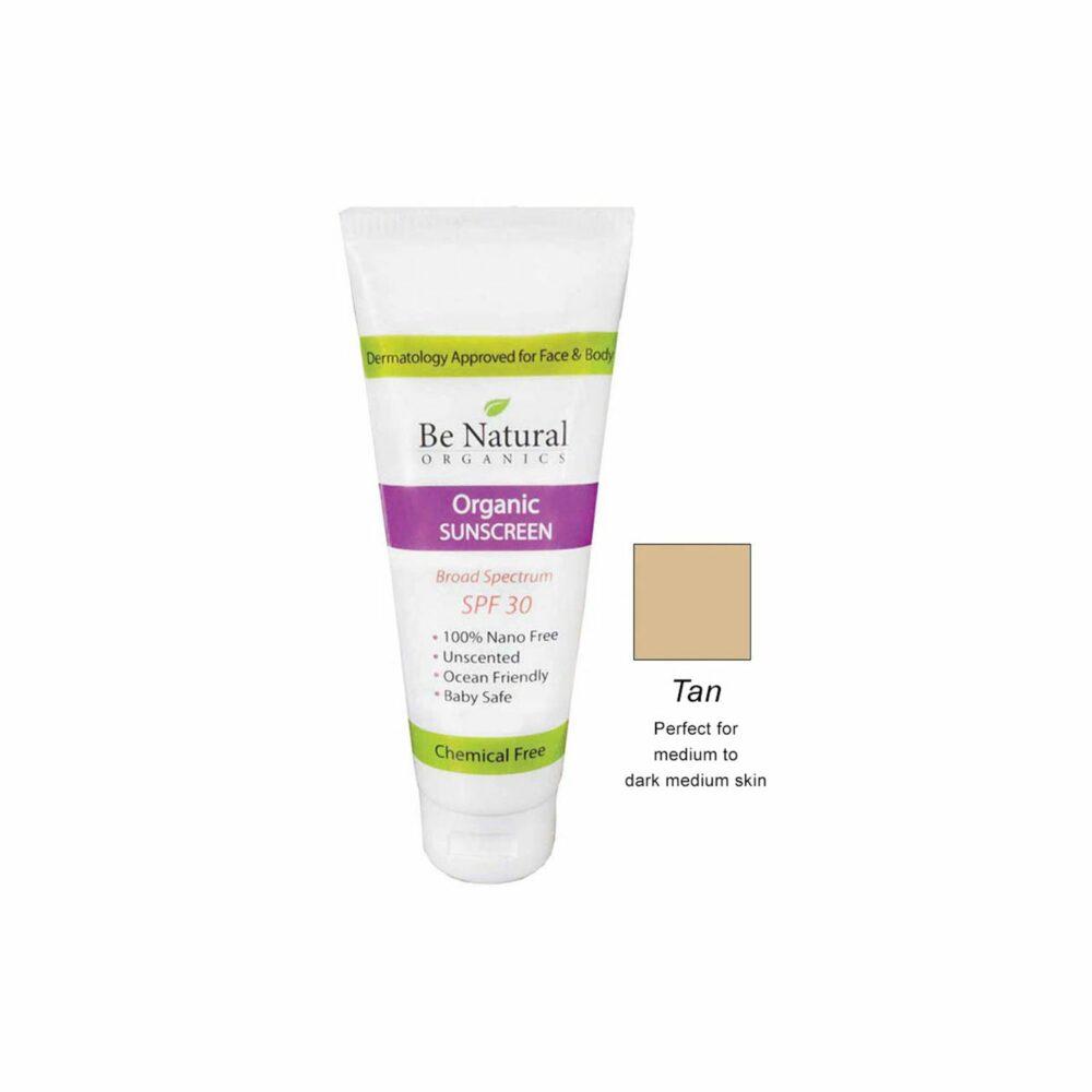 Organic Sunscreen – Tan Tint – 4 oz