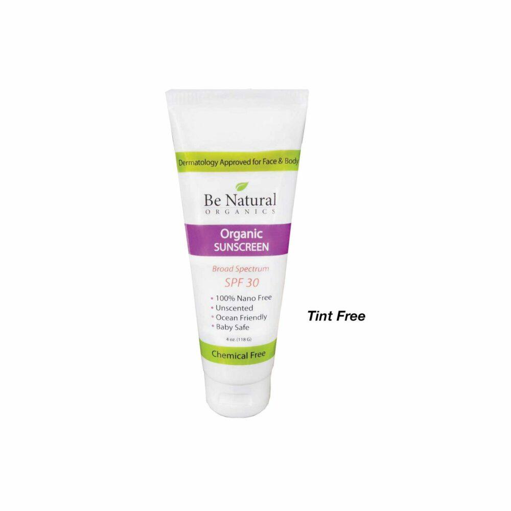 Organic Sunscreen – Tint Free – 4 oz